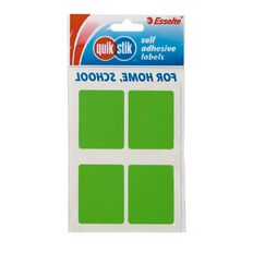 Quik Stik Labels Mr3545 28 Pack Fluoro Green