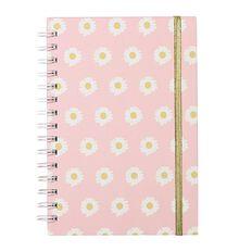 Uniti Blossom Daisy Hardcover Spiral Notebook Pink A5