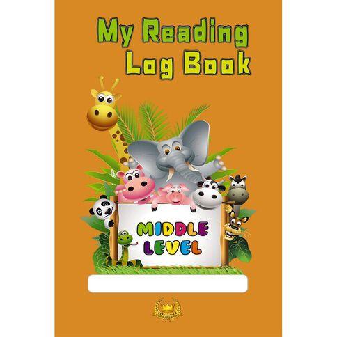 My Reading Log Book Orange