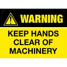 WS Warning Keep Hands Clear of Machinery Sign Large 450mm x 600mm