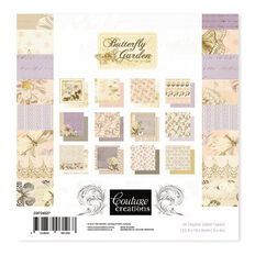 Couture Creations Butterfly Garden Paper Pad 24 Piece 6in x 6in
