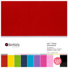Rosie's Studio Value Cardstock Smooth 220g Brights 6in x 6in 70 Sheet