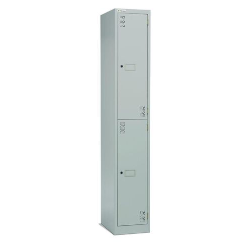Precision 2 Tier Locker Silver Grey