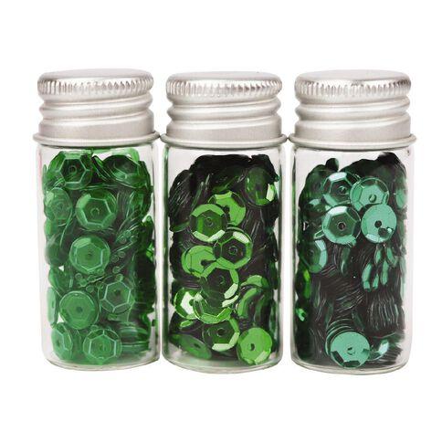 Uniti Sequins Greens 3 Pack