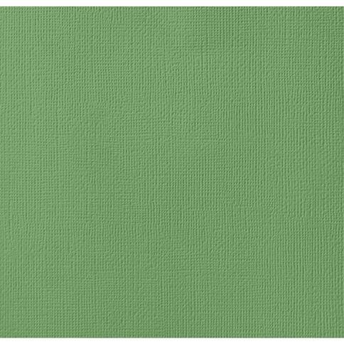 American Crafts Cardstock Textured 12 x 12 Moss Green