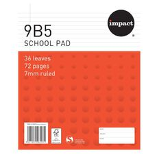 Impact Pad Refill 9B5 7mm Ruled 36 Leaf Red