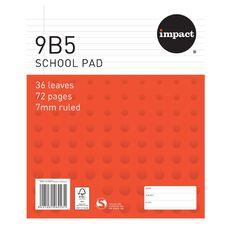 Impact Pad Refill 9B5 7mm Ruled 36 Leaf Red