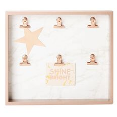 Uniti Rose Crush Photo Holder Box 30 X 26cm Rose Gold