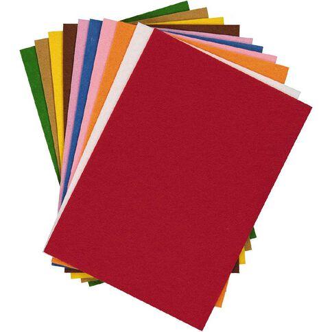 U-Do Felt Colours 10 Pack A4