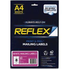 Reflex Internet Shipping Labels 8 Per Sheet 10 Pack A4