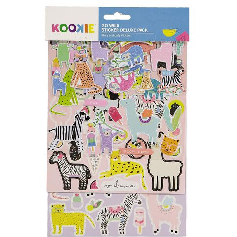 Kookie Sticker Deluxe Pack 5 Sheets Go Wild