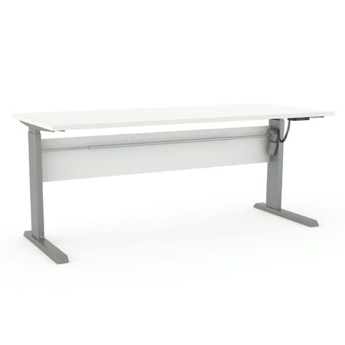 Cubit Height Adjustable Electric Desk 1500 White/Silver