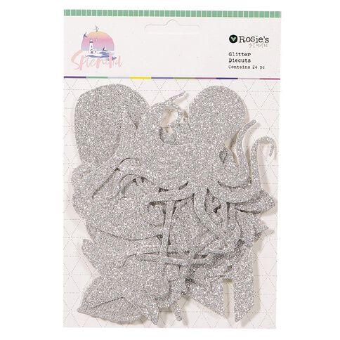 Rosie's Studio Splendid Glitter Diecuts 24 Piece