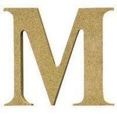 Sullivans Mdf Board Alphabet Letter 17cm M Brown