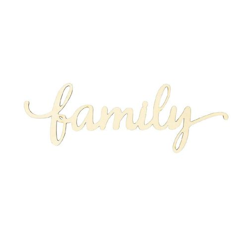 Uniti Chipboard Family Script Words