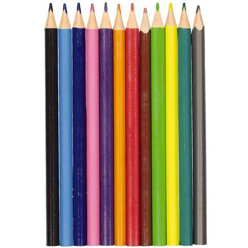Kookie Coloured Pencils Jumbo Multi-Coloured 12 Pack
