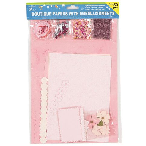 Little Birdie Specialty Paper Pack A4 with Embellishments