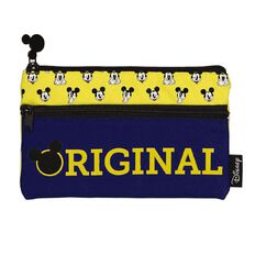 Mickey Mouse Two Pocket Pencil Case Yellow