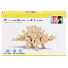 STEAM Make Your Own Wooden Mechanical Dinosaur Assorted