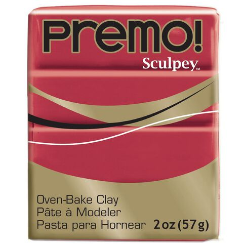 Sculpey Premo Accent Clay 57g Pomegranate Red