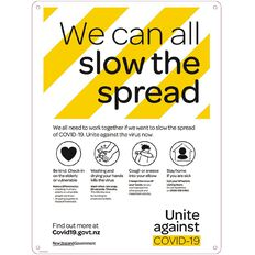 WS COVID Sign SLOW THE SPREAD