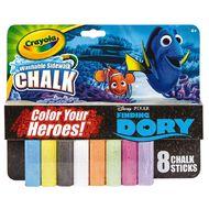 Disney Crayola Finding Dory Washable Sidewalk Chalk 8 Multi-Coloured