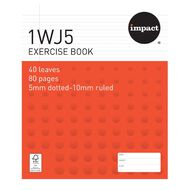 WS Exercise Book 1WJ5 5mm/10mm Ruled 40 Leaf