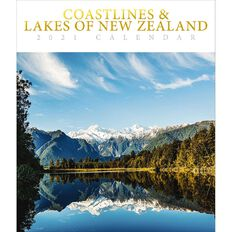 BrownTrout 2021 Deluxe Wall Calendar Coastlines & Lakes of New Zealand