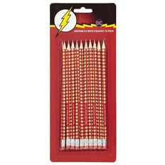 The Flash DC Comics HB Pencil with Eraser Set 10 Pack