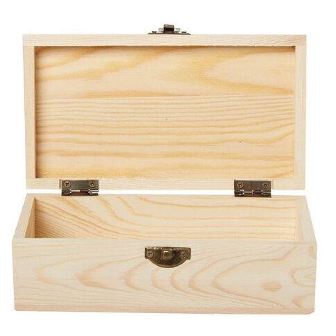 Uniti DIY Wooden Rectangle Box With Hinge