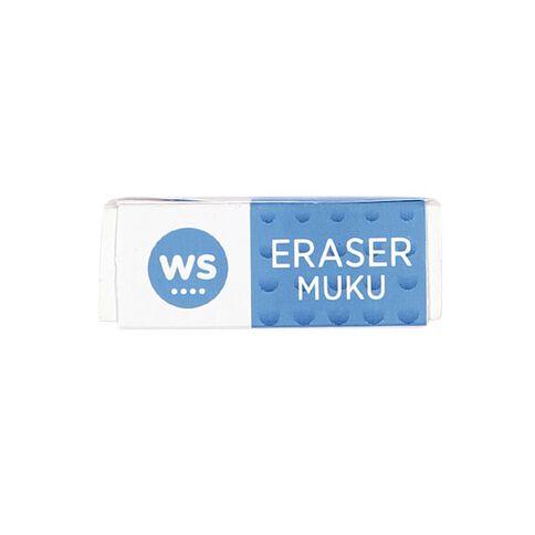 WS Eraser Single Loose White