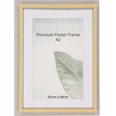 Living & Co Premium Poster Frame Natural A2