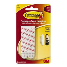 Command Mounting Strips 6pk White Large