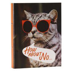 Uniti Fun & Funky Q4 Ring Binder Cat Red A4