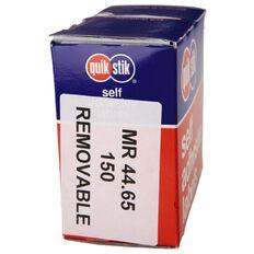 Quik Stik Labels Mr4465 44mm x 65mm 150 Pack White