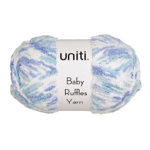 Uniti Yarn Baby Ruffles Blue/White 200g