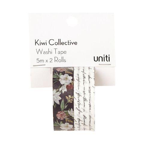 Uniti Kiwi Collective Washi Tape Pack 5m x 2 Rolls