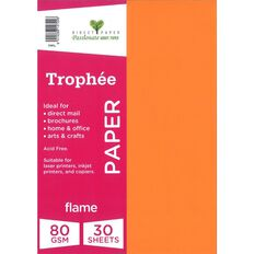 Trophee Paper 80gsm 30 Pack Flame Red A4