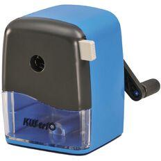 KW-trio Desktop Pencil Sharpener Adjustable Fit Blue