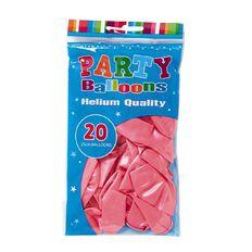 Artwrap Helium Balloons Light Pink Pearl 25cm 20 Pack