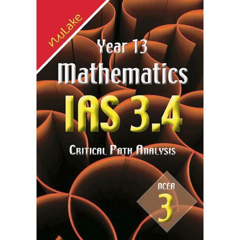 Nulake Year 13 Mathematics Ias 3.4 Critical Path Analysis