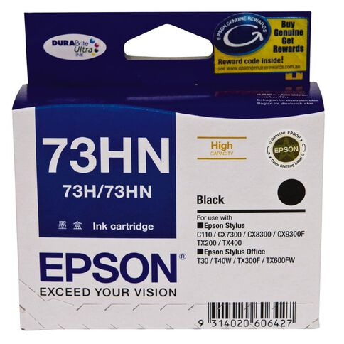 Epson Ink 73HN Black 2 Pack