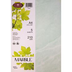 Direct Paper Marble Paper 210gsm 5 Pack Green A4