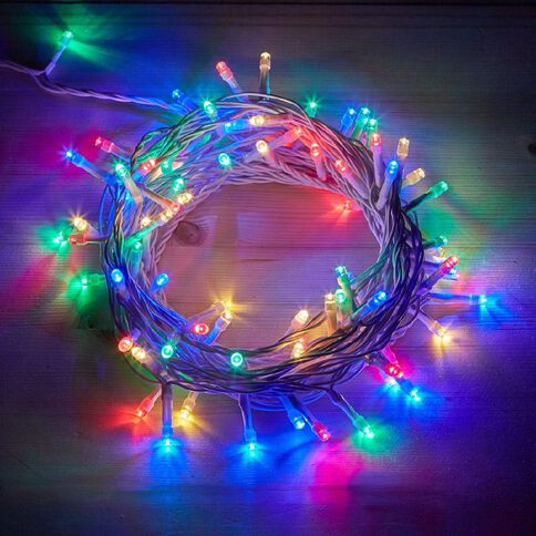 Plug-in String Lights Multi-Coloured 200 LED