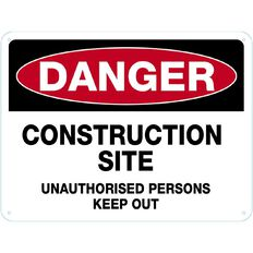 Impact Danger Construction Site Sign Large 460mm x 610mm