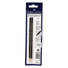 Faber-Castell Pencil Goldfaber 3H 2 Pack Black