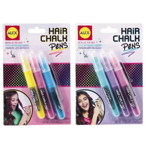 ALEX Hair Chalk Pens Metallic Multi-Coloured