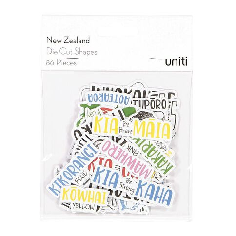 Uniti New Zealand Die Cut Shapes