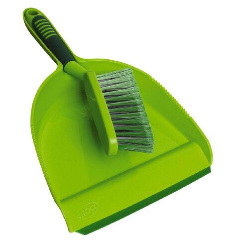 Sabco Cleanline Blade Dustpan & Brush Green