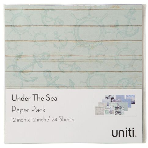 Uniti Under The Sea Designer Paper Pad 12in x 12in